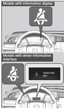 Honda Civic Owners Manual - Seat Belt Reminder - About Your